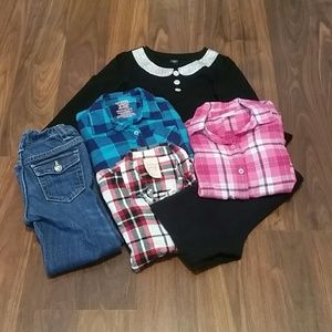 HOST PICK:6-piece Girls' Fall/Winter Clothes, sz 4